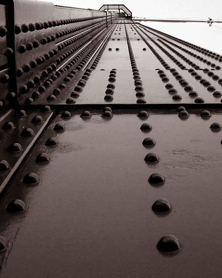 Lions Gate Bridge Photograph - Looking Up Or Looking Down by Joseph G Holland