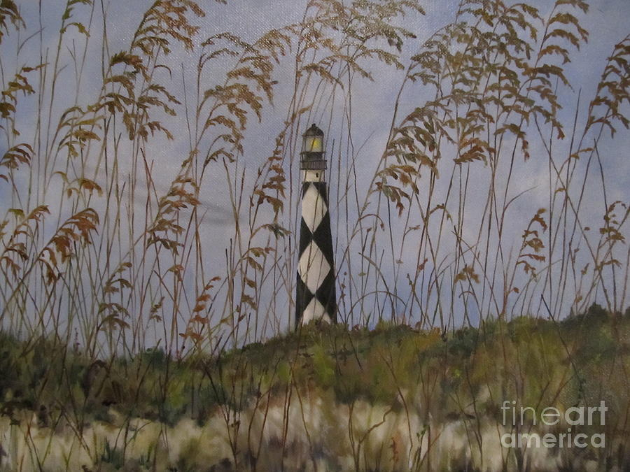 Lighthouse Painting - Lookout Lighthouse, Nc by Karen Olson