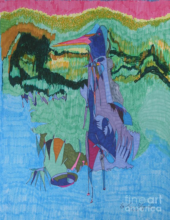 Loon In Bay Mixed Media by James SheppardIII