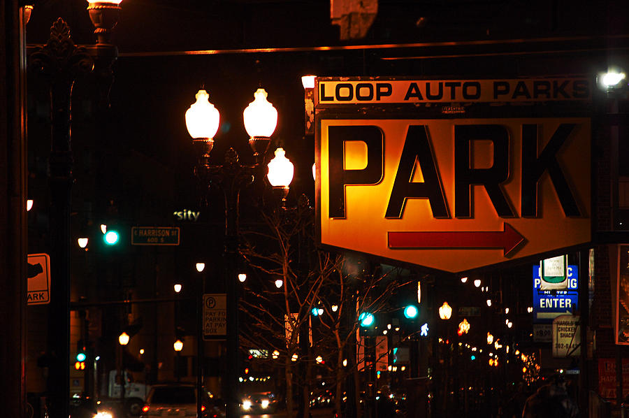 Lake Shore Drive Photograph - Loop Auto Park by Jame Hayes