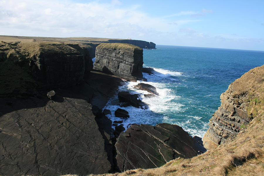 Loop Head Photograph - Loop Head Cliffs by John Quinn