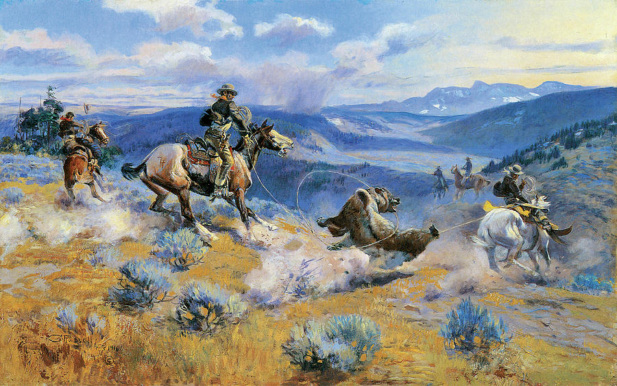 Charles Russell Digital Art - Loops And Swift Horses Are Surer Than Lead by Charles Russell