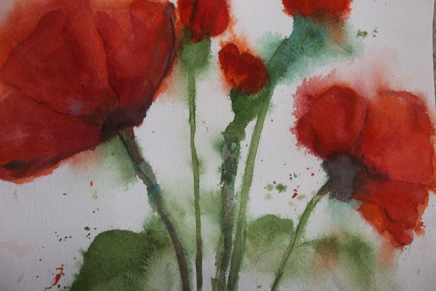 Loose Poppies by Audrey Bunchkowski