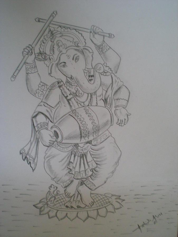 Lord ganesh drawing lord by ashish arora