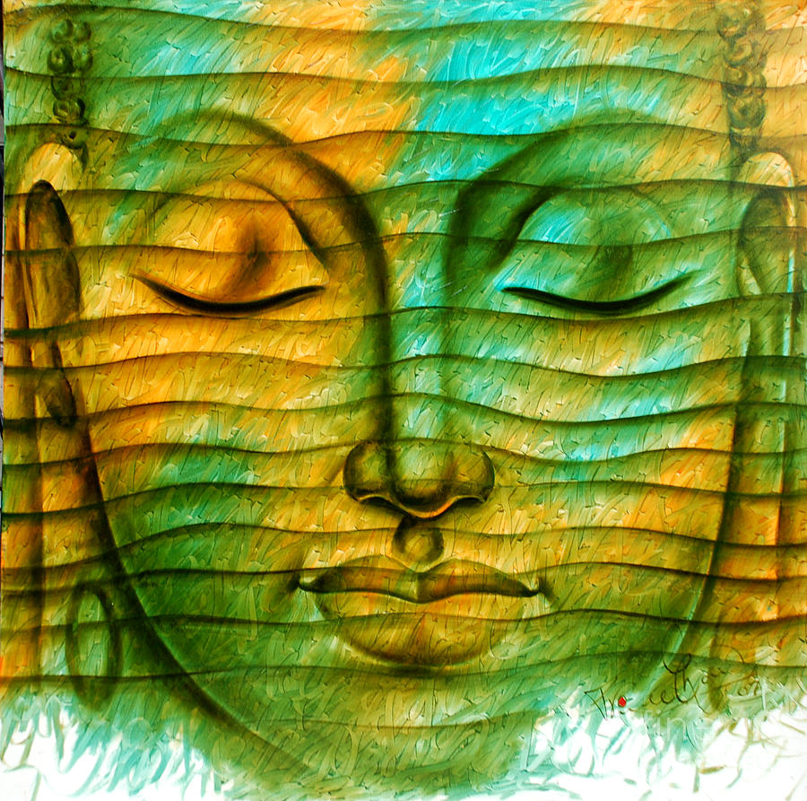 Lord Buddha Painting by Prince Chand