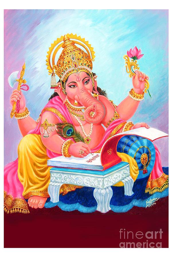 Ganesh Painting - Lord Ganesh by Kalpana Talpade Ranadive