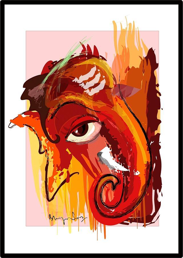 Lord Ganesha Digital Art by Bhagvan Das