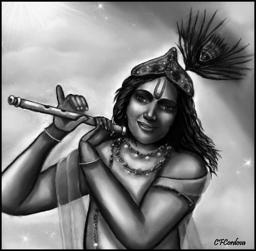 Lord Krishna Painting - Lord Krishna by Carmen Cordova