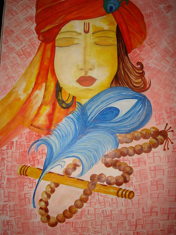 Lord Krishna In Meditation Painting by Seema Sharma