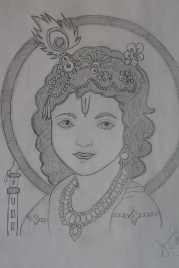 Lord Krishna By Sanjana Malla