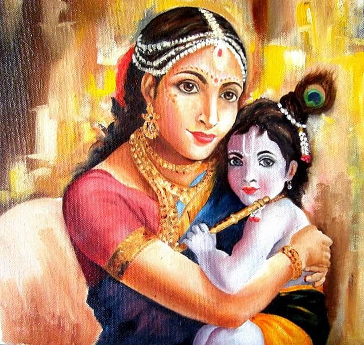 lord krishna with mom rahul nambiar