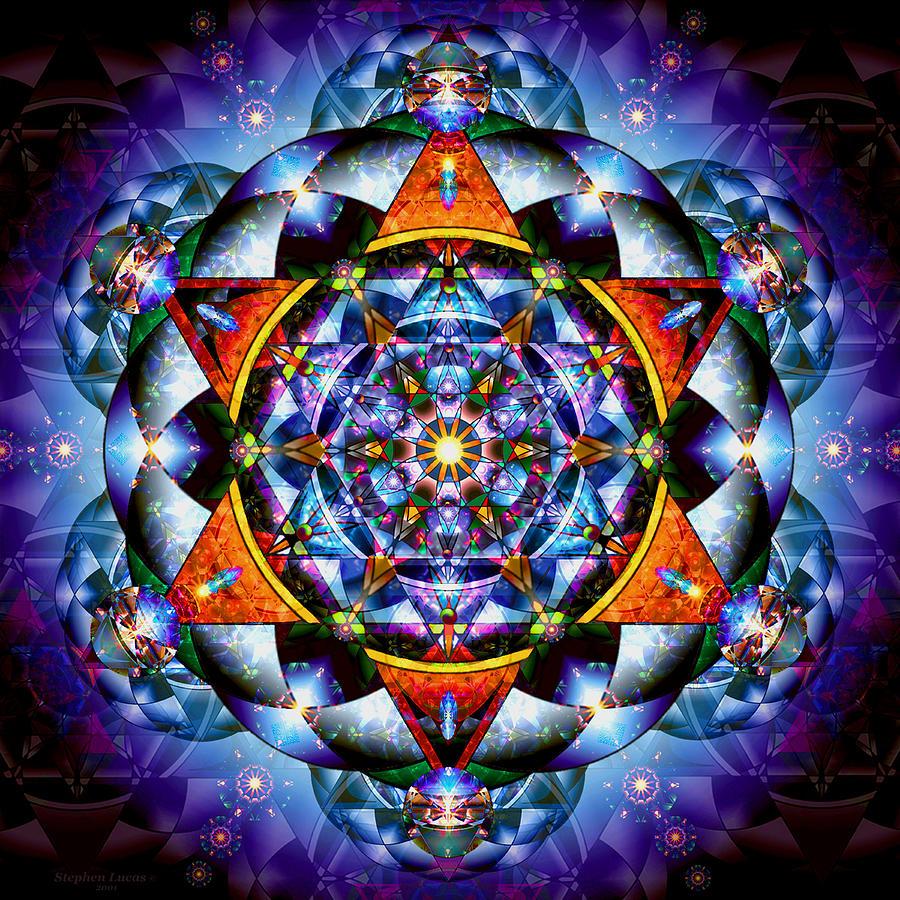 Mandala Digital Art - Lord of Light I by Stephen Lucas