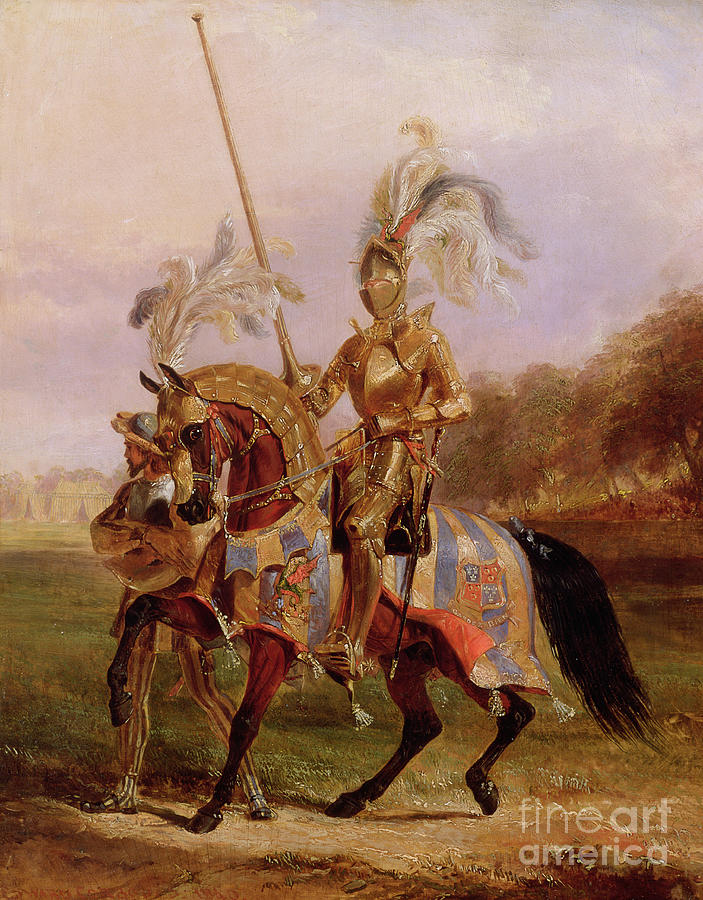 Eglinton Painting - Lord Of The Tournament by Edward Henry Corbould