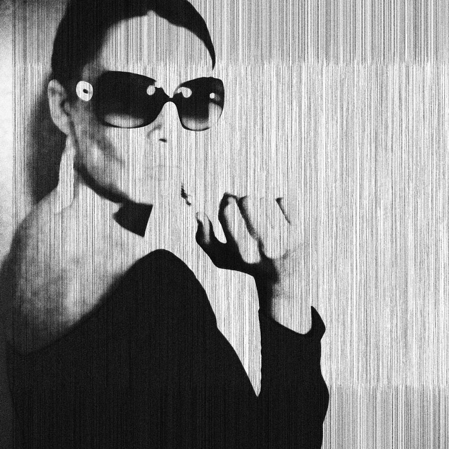 Woman Photograph - Loren Black by Naxart Studio