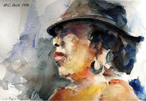 Portrait Painting - Loretta by Chuck Berk