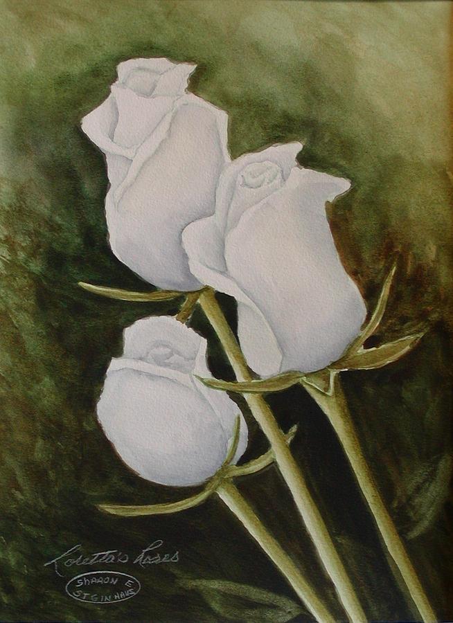 Lorettas Roses Painting by Sharon Steinhaus