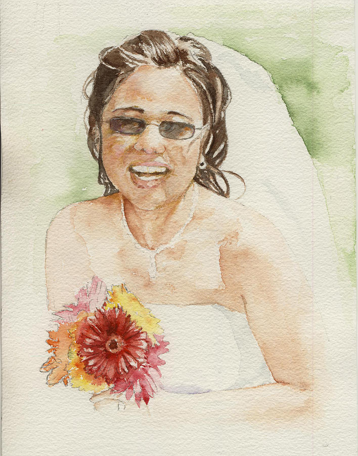 Bride Painting - Lorilee by Maria Tepper