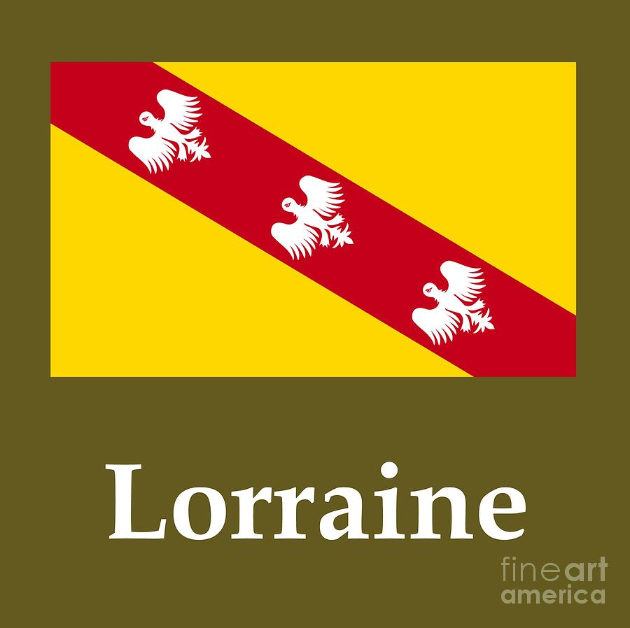 lorraine france flag and name digital art by frederick holiday