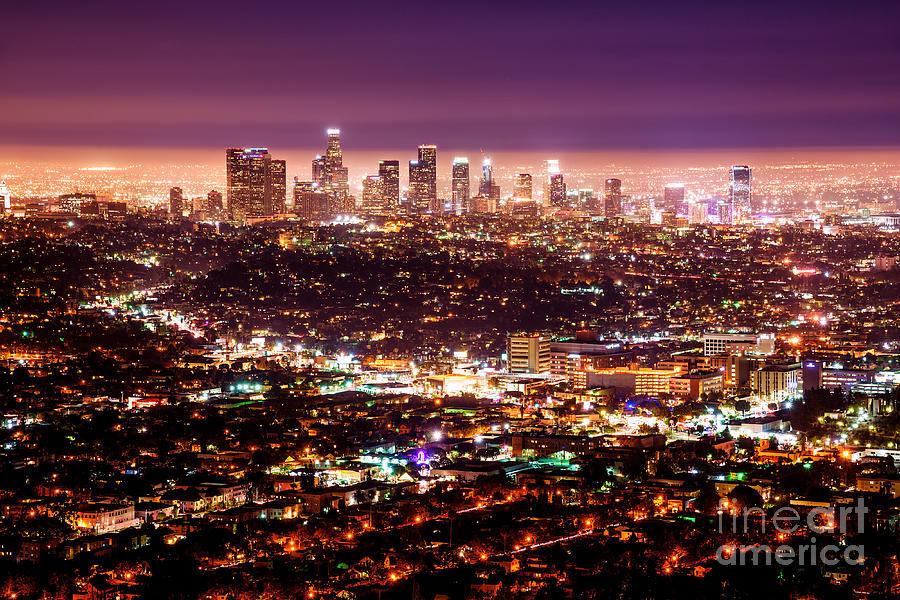 Los Angeles By Night Photograph