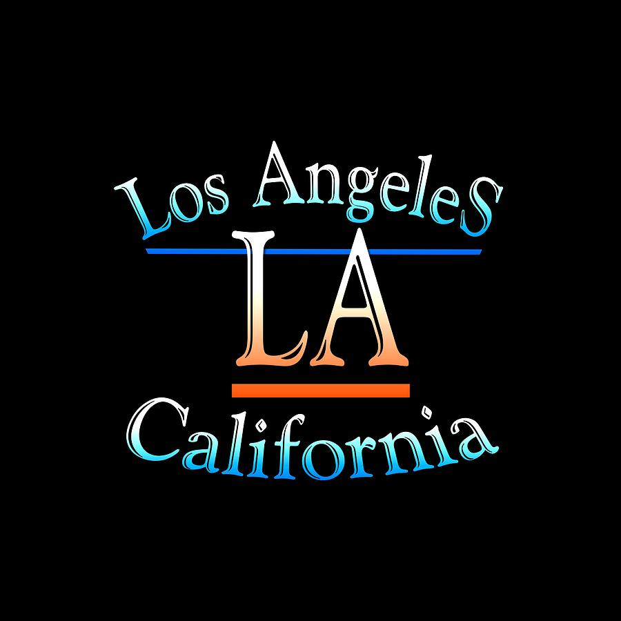 Losangeles Mixed Media - Los Angeles California Design by Peter Potter