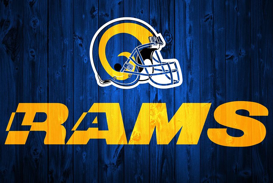 Los Angeles Rams Barn Door Digital Art