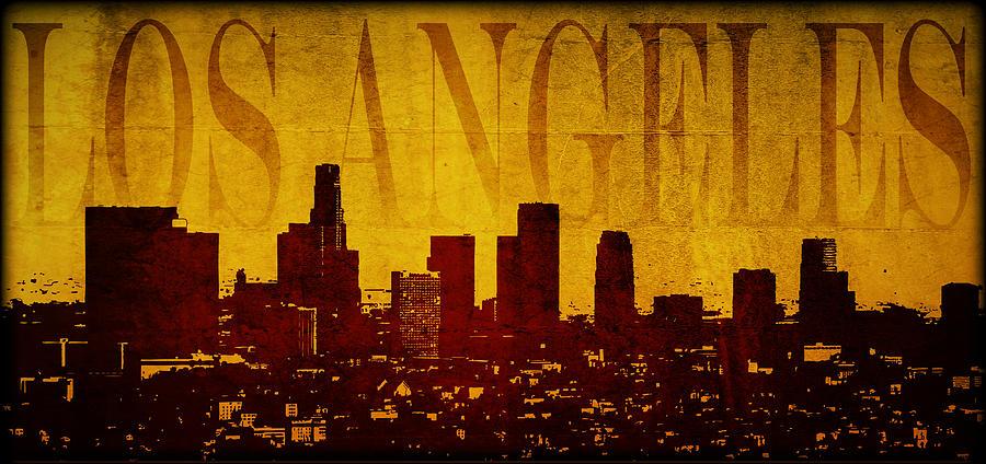Los Digital Art - Los Angeles by Ricky Barnard