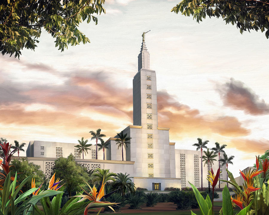 Los Angeles Painting - Los Angeles Temple by Brent Borup