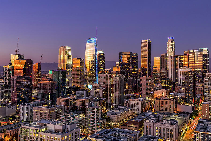 Los Angeles Photograph - Los Angeles Twilight by Kelley King