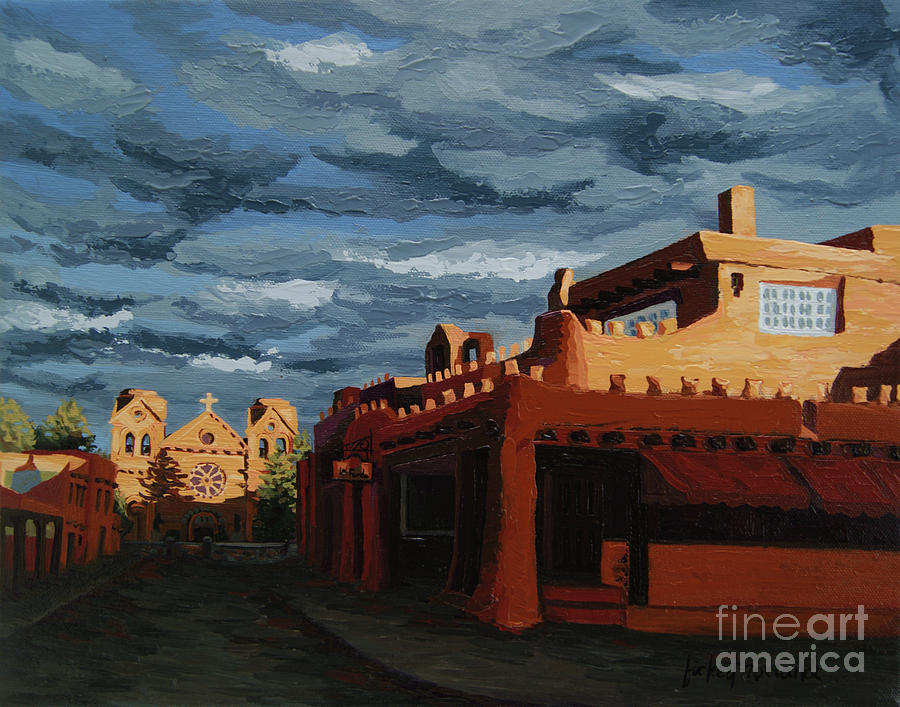 Lanterns Painting - Los Farolitos,the Lanterns, Santa Fe, Nm by Erin Fickert-Rowland