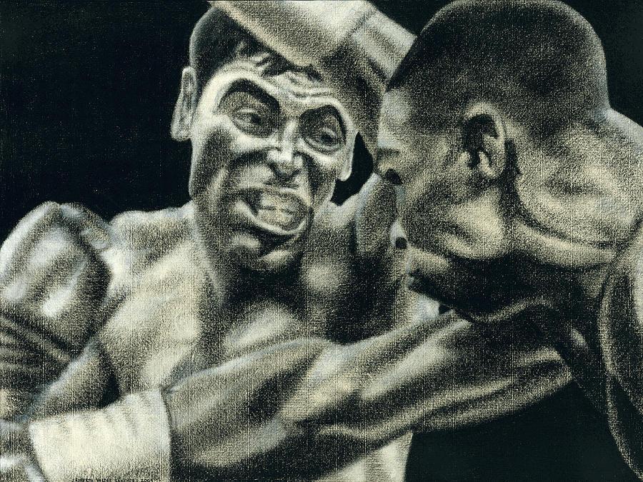 Boxing Drawing - Los Guerreros by Roberto Valdes Sanchez