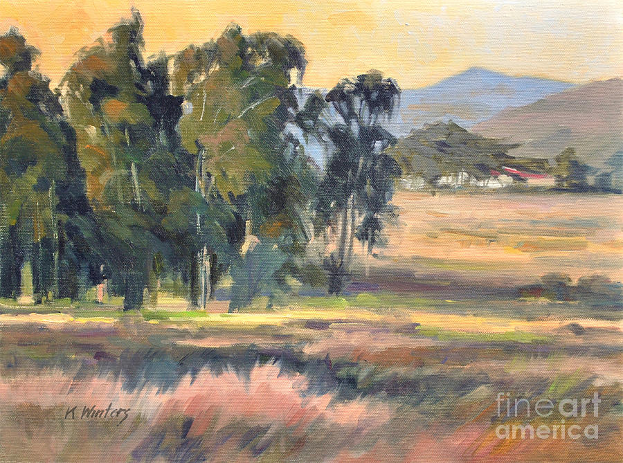 California Landscape Painting - Los Osos Valley - For The Love Of The Land - California Landscape Painting by Karen Winters