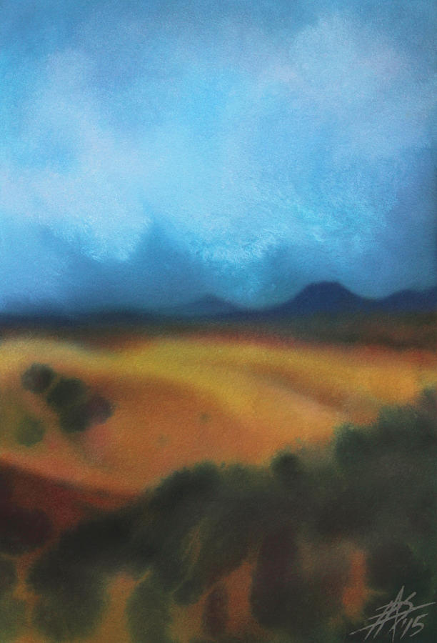 Los Penasquitos Canyon Painting - Los Penasquitos Canyon Vii Or Approaching Storm by Robin Street-Morris