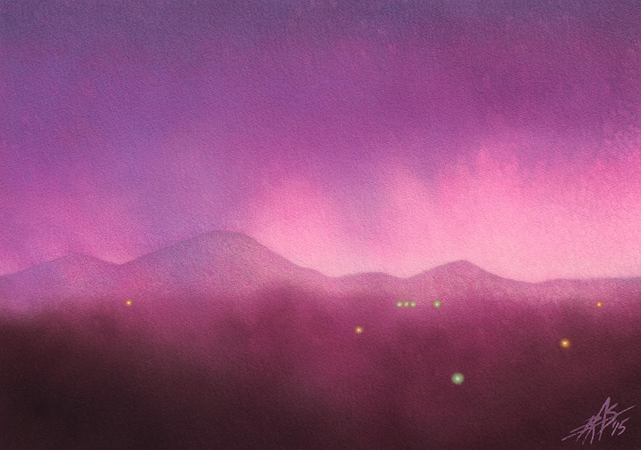 Landscape Painting - Los Penasquitos Canyon With Black Mountain IIi by Robin Street-Morris