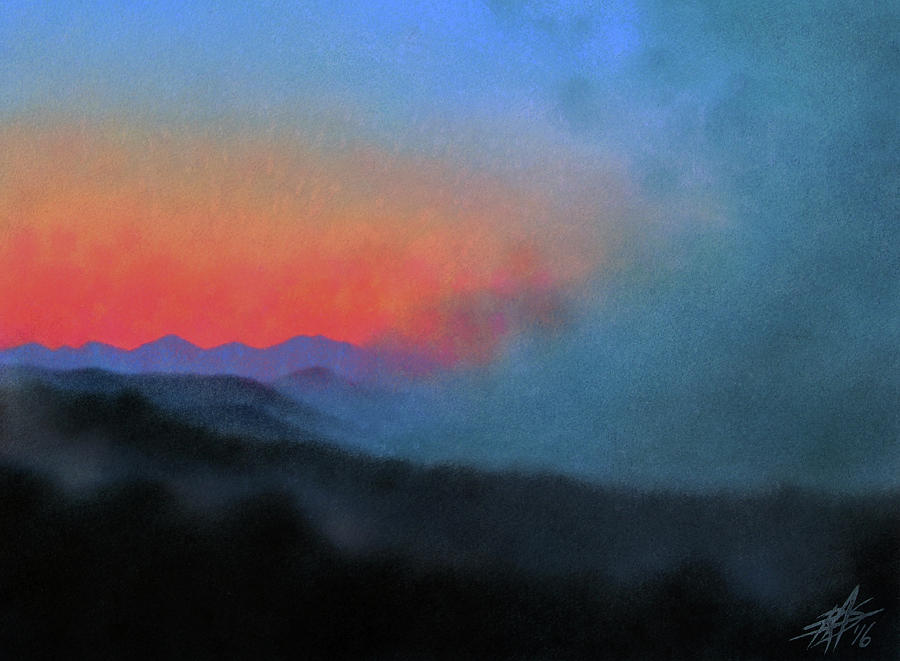 Landscape Painting - Los Penasquitos Canyon XIII--Coastal Fog at Dawn by Robin Street-Morris