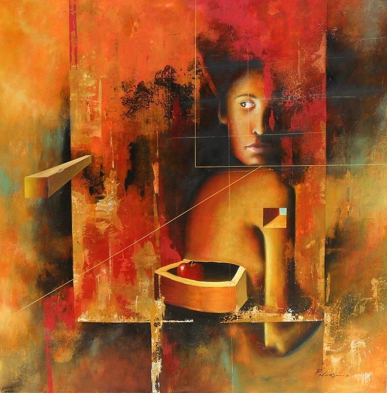 Surrealism Painting - Los Secretos by Santiago Polvos