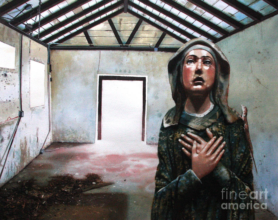 Icon Painting - Losing My Religion by Denny Bond