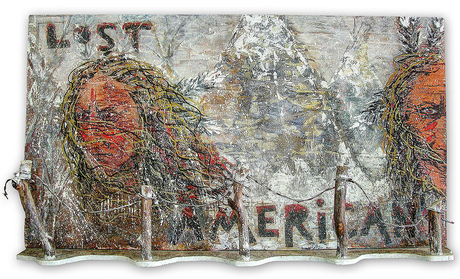 American Indian Painting - Lost Americans At Wounded Knee by Tony A Blue