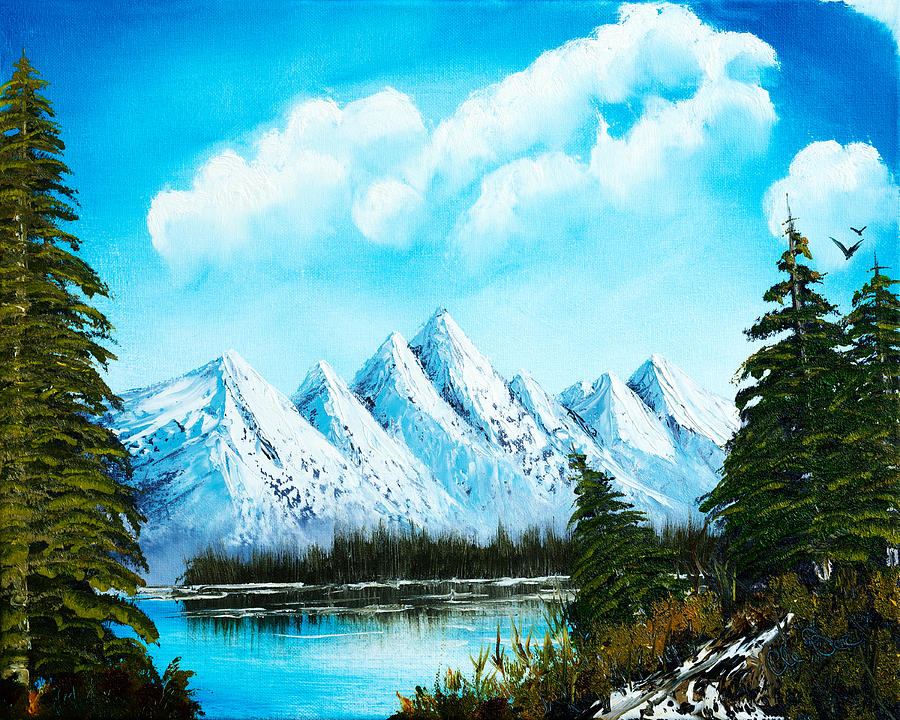 Alaska Painting - Lost Blue Lagoon  by Claude Beaulac