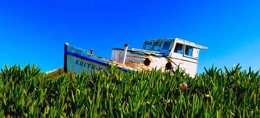 Boat Photograph - Lost Boat by Josephine Buschman