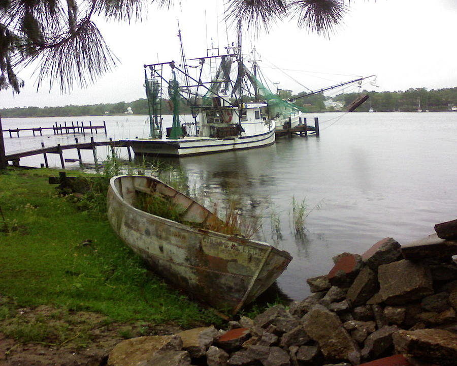Boat Photograph - Lost Boat by Patricia Caldwell