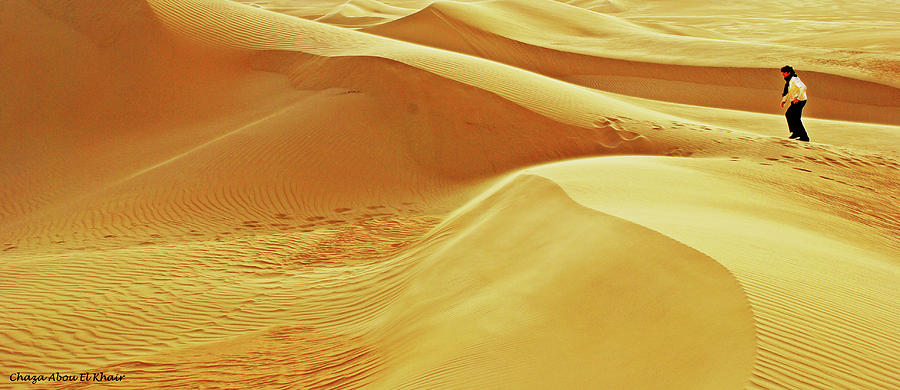 Desert Photograph - Lost by Chaza Abou El Khair