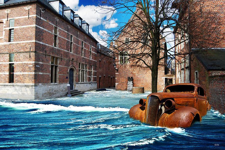 Magic Digital Art - Lost City by The Hybryds