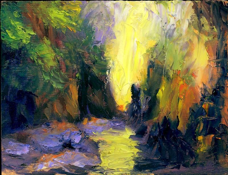 Landscape Painting - Lost Creek by Gail Kirtz
