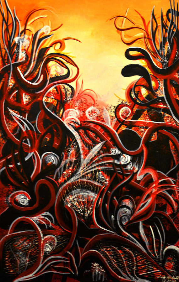Abstract Painting Painting - Lost by Darly Raphael
