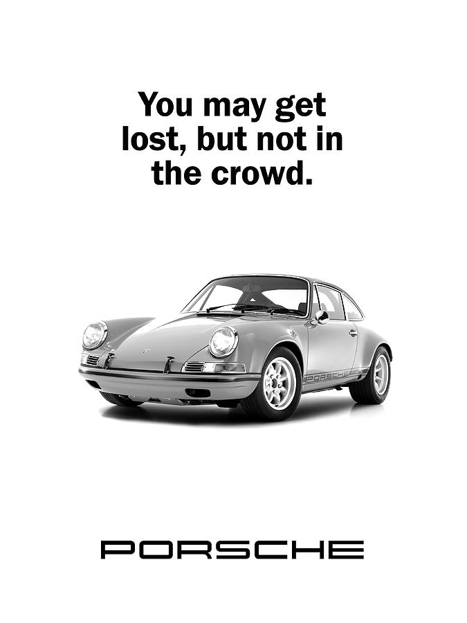 Porsche Photograph - Lost In A Porsche by Mark Rogan