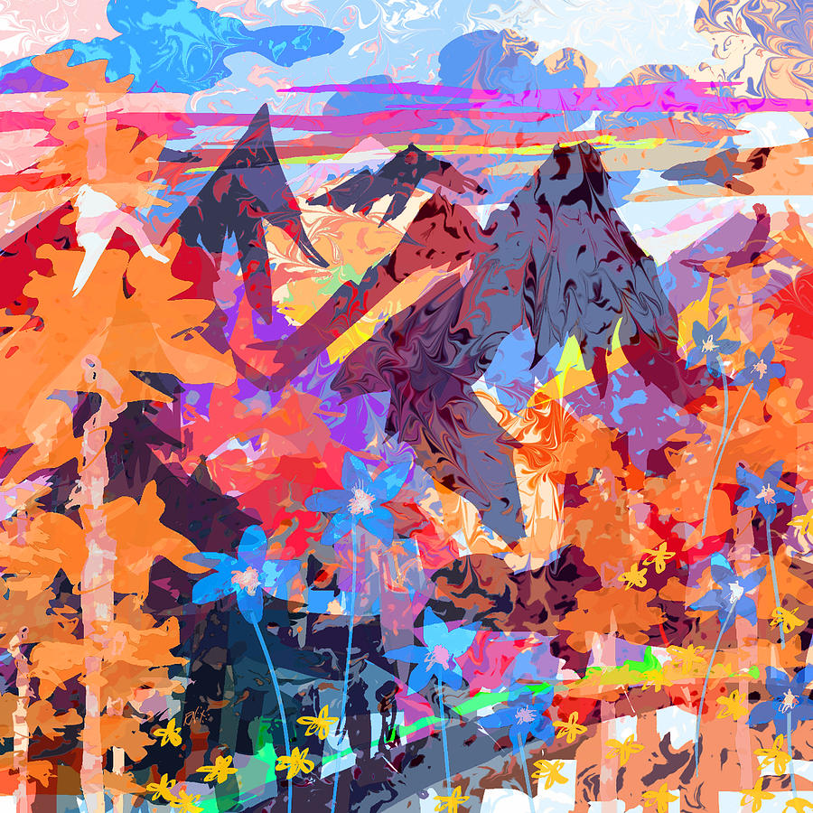 Abstract Digital Art - Lost In Colorado by Rachel Christine Nowicki