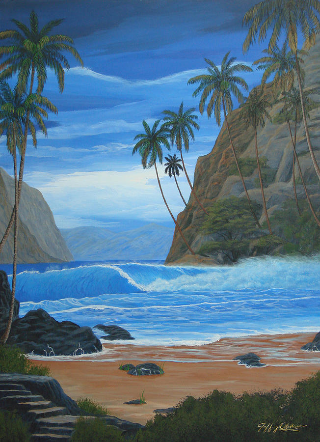 Beach Landscape Painting - Lost In Paradise by Jeffrey Oldham