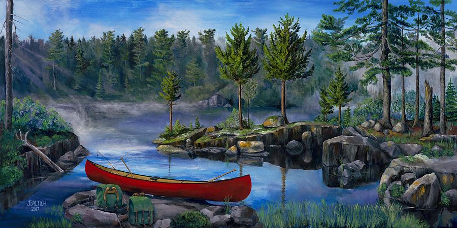Landscape Painting - Lost In The Boundary Waters by Joe Baltich