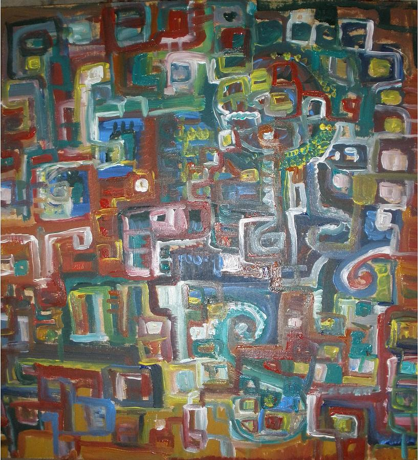 Abstract Painting - Lost In The Labyrinth by Philip Arnzen-Jones