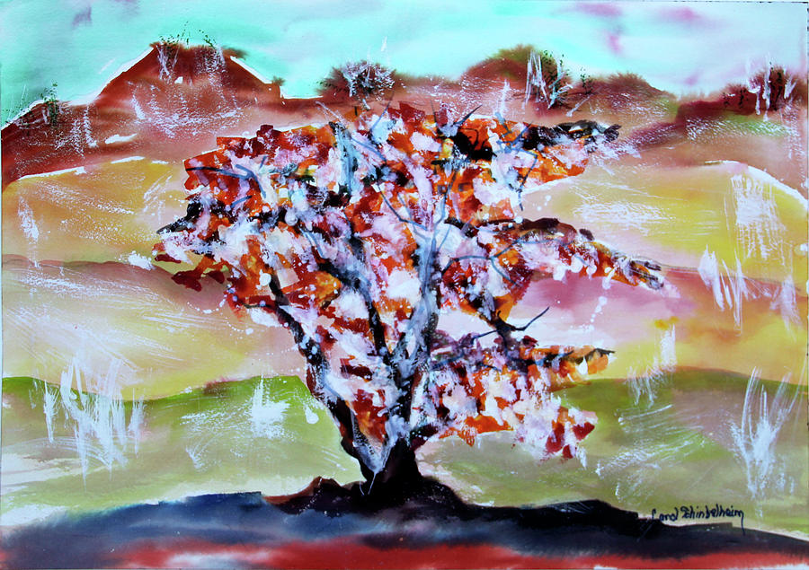 Trees Painting - Lost In The Middle by Carol Schindelheim
